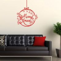 Merry Christmas & Bauble  ~ Wall sticker / decals